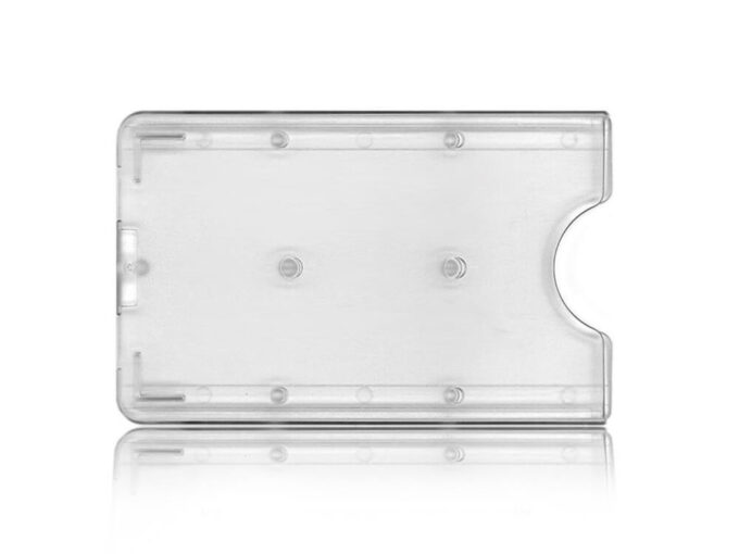 Protège-carte rigide transparent face avant