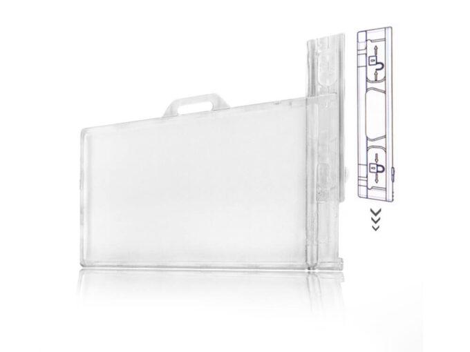 Porte-badge rigide transparent sécuritaire avec système de verrouillage définitif