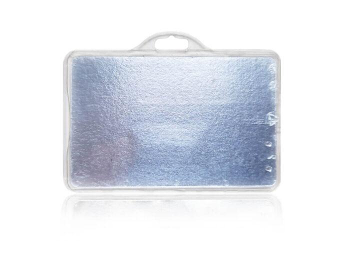Porte-badge rigide sécurisé anti-RFID face arrière