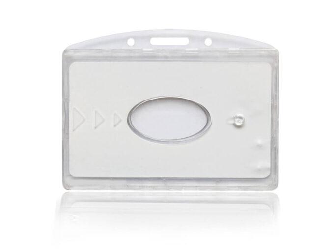 Porte-badge double rigide sécurisé anti-RFID face avant