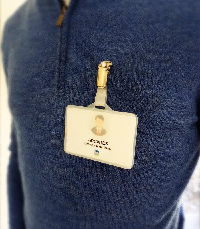 Porte-badge Veget'all biodégradable écologique écoresponsable