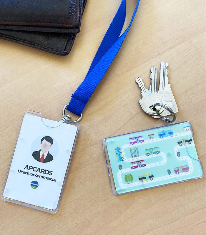 Porte-badge vertical porte-clés