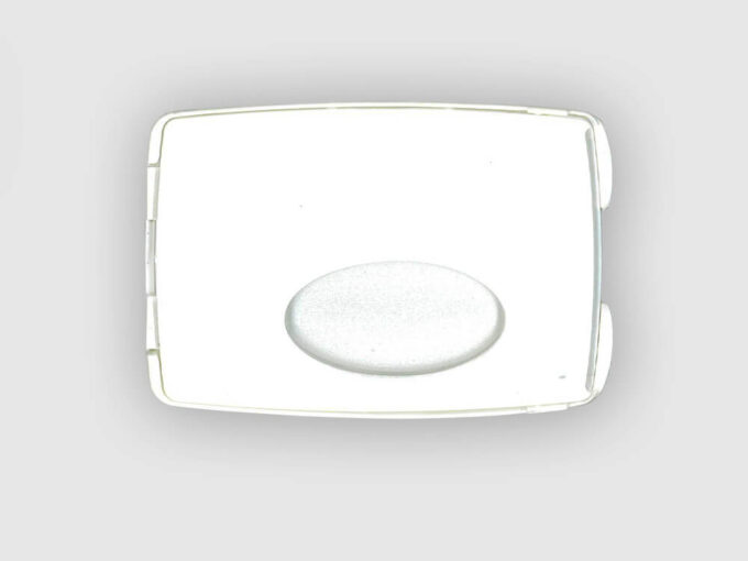Card holder with integrated storage front side