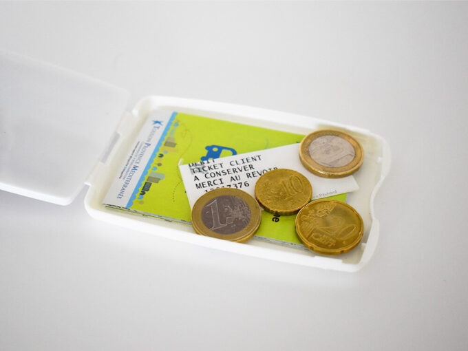 Card holder with integrated storage