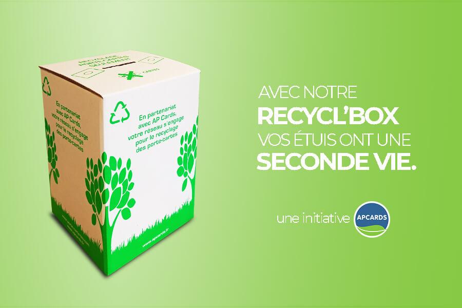 Recycl'box-recyclage-étuis carte badges-APCards