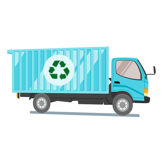 transport usine recyclage