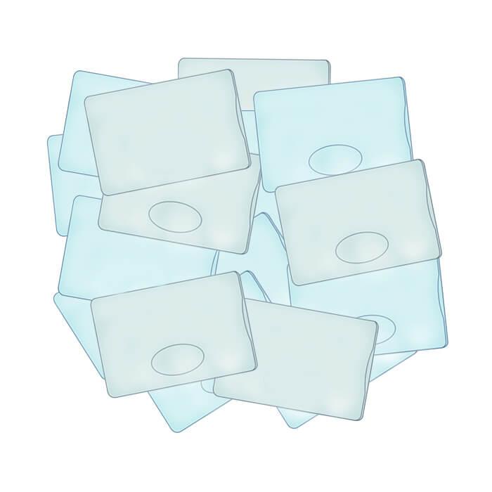 tri porte-carte porte-badge protège-carte usagé